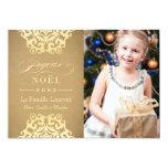 Joyeux Noël Carte-Photo | Papier Kraft et Or Comunicados Personales