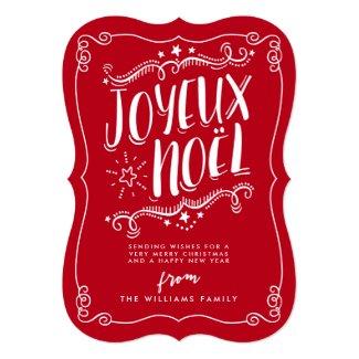 Joyeux Noel Christmas Holiday Greeting Card