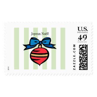 Joyeux Noël Christmas Ornament Stamp