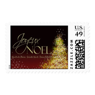Joyeux NOEL Christmas Postage Stamp