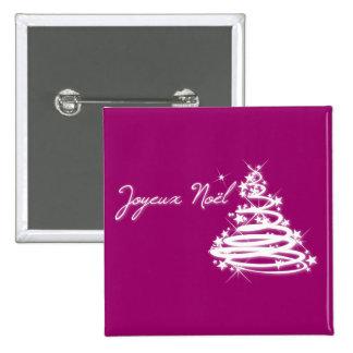 Joyeux Noël con el árbol de navidad Pins