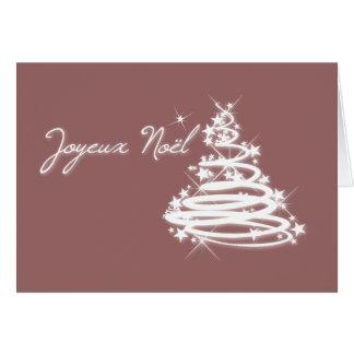 Joyeux Noël con el árbol de navidad Tarjeton