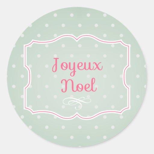Joyeux Noel Cupcake Topper/Sticker