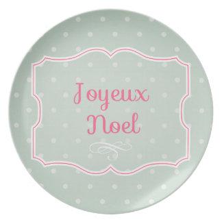 Joyeux Noel Dessert Plate
