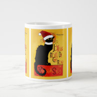 Joyeux Noël Du Chat Noir 20 Oz Large Ceramic Coffee Mug