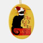 Joyeux Noël Du Chat Noir Ceramic Ornament