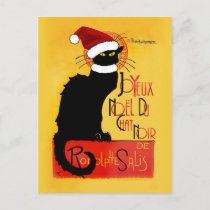 Joyeux Noël Du Chat Noir Christmas Holiday Postcard