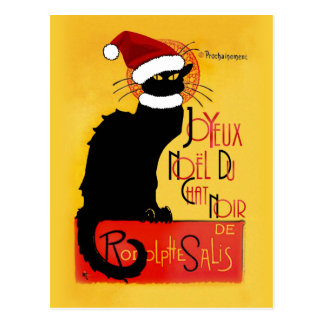 Joyeux Noël Du Chat Noir Christmas Postcard