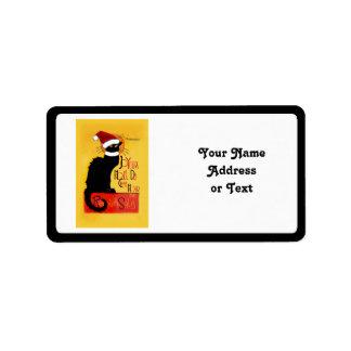 Joyeux Noël Du Chat Noir Custom Address Labels