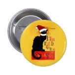 Joyeux Noël Du Chat Noir Pinback Button