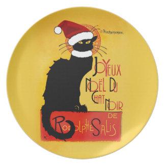 Joyeux Noël Du Chat Noir Party Plates