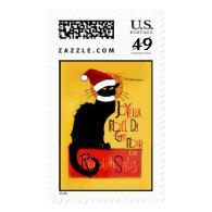 Joyeux Noël Du Chat Noir Postage