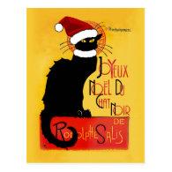 Joyeux Noël Du Chat Noir Postcard
