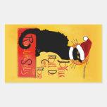 Joyeux Noël Du Chat Noir Rectangular Sticker