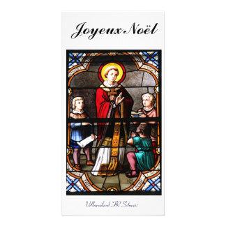 Joyeux Noël Fotokarte Tarjeta Personal