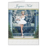 Joyeux Noël French Christmas Ballerina Card
