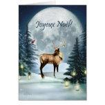 Joyeux Noël - French Christmas Winter Deer Card