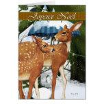 Joyeux Noël - French Deer Christmas Card