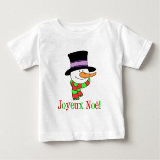 Joyeux Noel French Snowman Baby T-Shirt