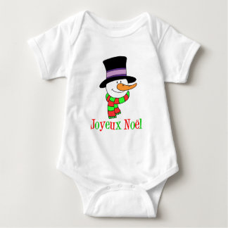 Joyeux Noel French Snowman Infant Creeper