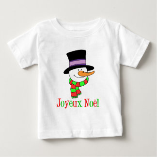Joyeux Noel French Snowman T-shirt