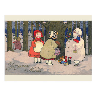 """Joyeux Noel"" French Vintage Christmas Postcard"
