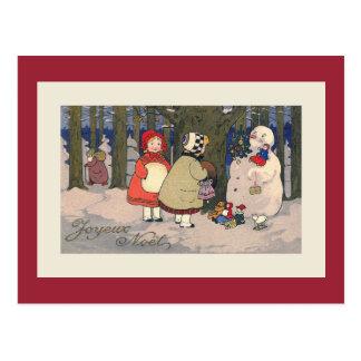 Joyeux Noel French Vintage Christmas Postcard
