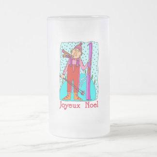 Joyeux Noel Frosted Glass Mug