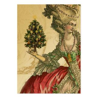 Joyeux Noel Gold Festive Gift Tag Large Business Card