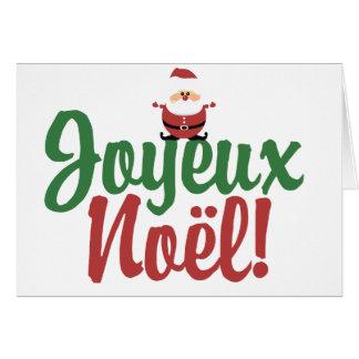 Joyeux Noel Happy Christmas Card