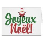 Joyeux Noel Happy Christmas Greeting Card