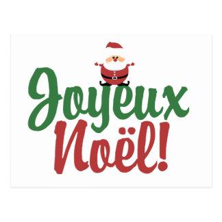 Joyeux Noel Happy Christmas Postcard