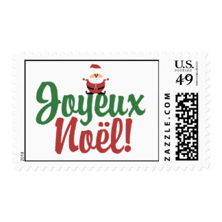 Joyeux Noel Happy Christmas Stamp