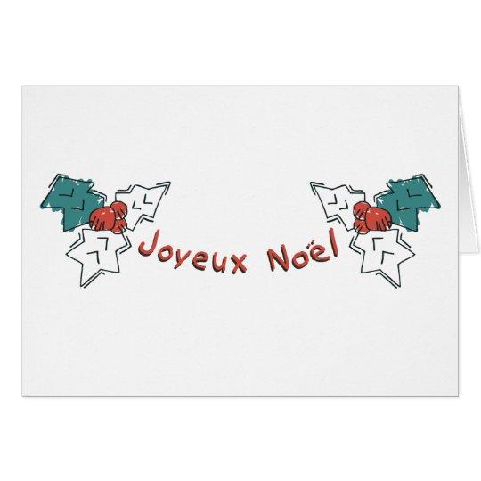 Joyeux Noel Holly Card
