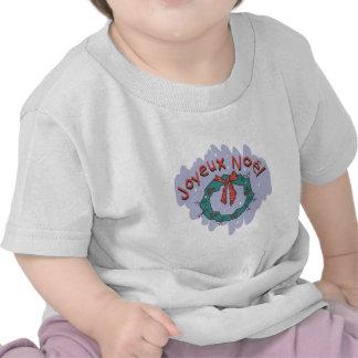 Joyeux Noel Holly Wreath T Shirts