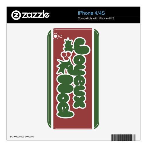Joyeux Noel iPhone 4S Skin