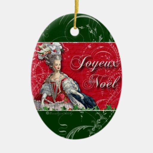 Joyeux Noel Marie Antoinette Ornament