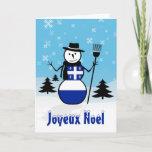 Joyeux Noel Merry Christmas Canada Snowman Quebec