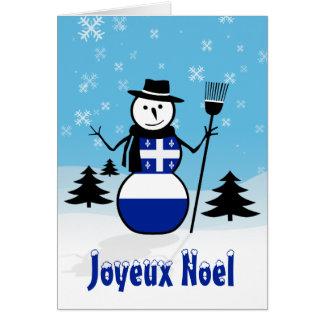 Joyeux Noel Merry Christmas Canada Snowman Quebec Cards