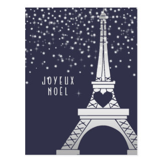Joyeux Noel | Merry Christmas from Paris in Winter Postcard