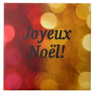 Joyeux Noël! Merry Christmas in French bf Ceramic Tile