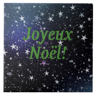 Joyeux Noël! Merry Christmas in French gf Ceramic Tile