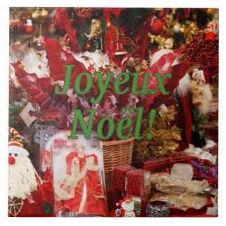 Joyeux Noël! Merry Christmas in French gf Tile