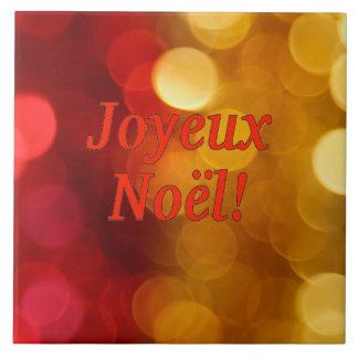 Joyeux Noël! Merry Christmas in French rf Ceramic Tile