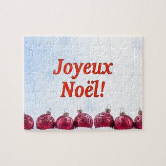 Joyeux Noël! Merry Christmas in French rf Jigsaw Puzzles