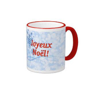 Joyeux Noël! Merry Christmas in French rf Ringer Mug