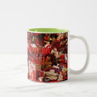 Joyeux Noël! Merry Christmas in French rf Two-Tone Coffee Mug