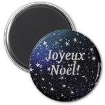 Joyeux Noël! Merry Christmas in French wf Fridge Magnets