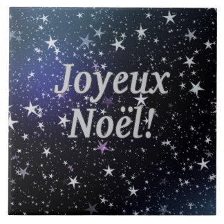 Joyeux Noël! Merry Christmas in French wf Tile