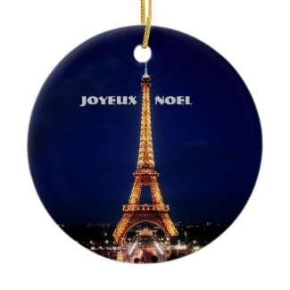 JOYEUX, NOEL (MERRY CHRISTMAS) CHRISTMAS TREE ORNAMENTS